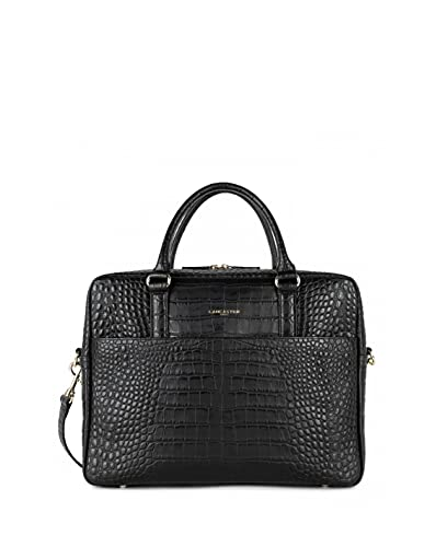 LANCASTER 47054 - Bolsa portadocumentos para mujer, 38 x 29 x 8 cm, color negro