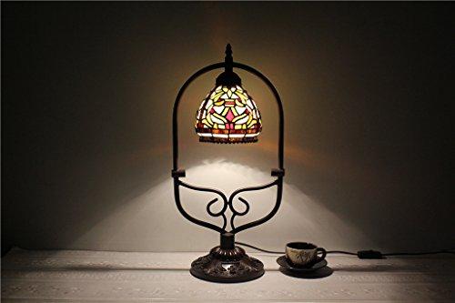 TOYM-ambiente de estilo europeo retro de lujo de la artesanía noche Lámpara de mesa de restaurante salón de 6 pulgadas Tiffany luz de la mesilla de los niños lámpara del dormitorio