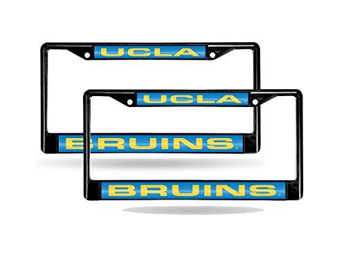 UCLA Bruins NCAA Black Metal (2) Laser License Plate Frame Set