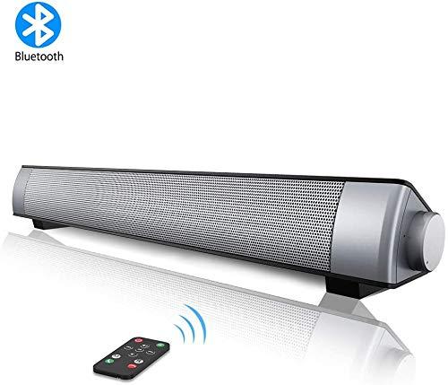 VersionTECH. Barra de Sonido PC Altavoz con Cable e Inalámbrico Bluetooth, Altavoz Estéreo con Control Remoto, SoundBar USB Portátil para Cine en Casa, Ordenador, TV, Móvil, Soporte [RCA, AUX]