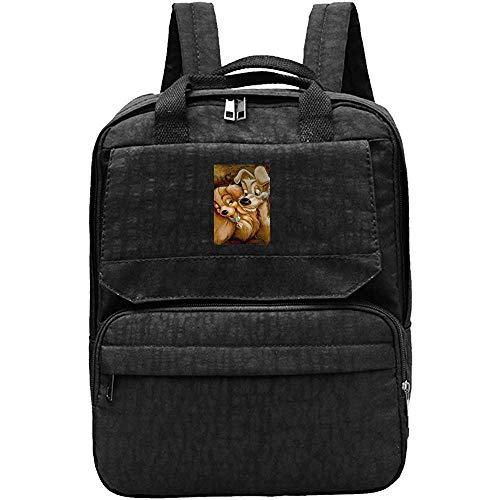 Adult Shoulder Bag,Lady Und The Tramp Love Dog Niedliche Hilfreiche Reisetaschen Für Erwachsene Im Freien Fitnessstudio 34cm(W) x27cm(H)