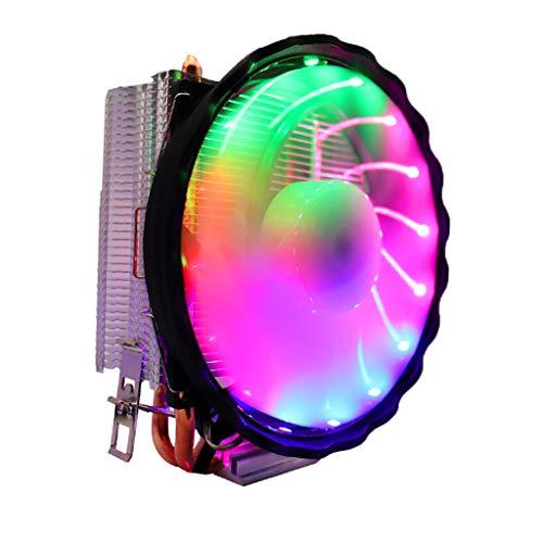 H HILABEE LED RGB Enfriador de CPU 4pin de disipador de Calor para Intel LGA Core/i3/i5 i7 Core/Quad Core/Pentium/Celeron Dual núcleo