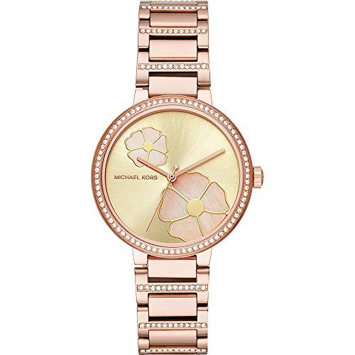 Michael Kors Damen Analog Quarz Uhr mit Edelstahl Armband MK3836