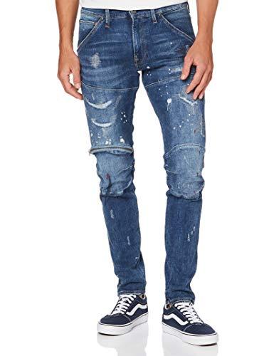 G-STAR RAW Herren Jeans 5620 3D Zip Knee Skinny, Sun Faded Prussian Blue Painted C296-B477, 36W / 36L