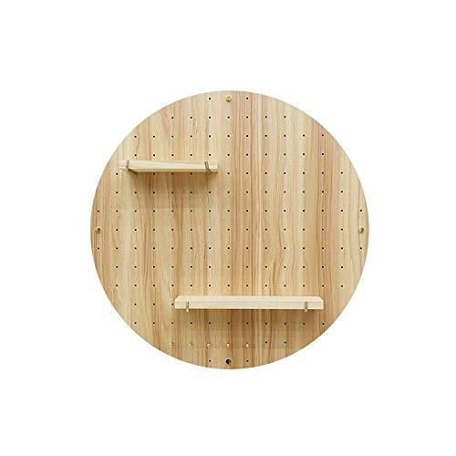 JCNFA Planken Zwevende Planken Wandmontage Rond Gat Board Koper Stang Combinatie Wanddecoratie Woonkamer Studie,10 Kleur 60 * 60cm As