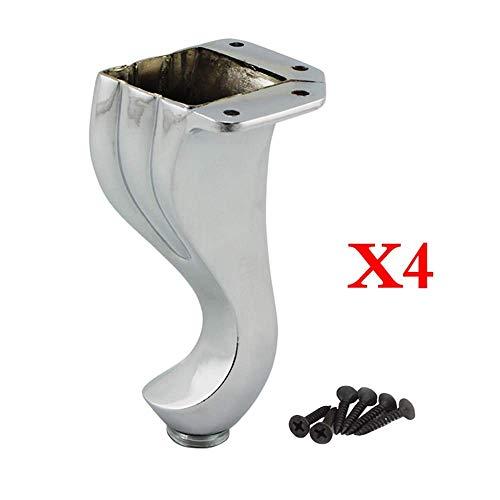 ZENGT Pies de soporte para muebles × 4, pies de gabinete de sofá de aleación de zinc para el hogar, a prueba de humedad, cojinetes de carga Fácil instalación
