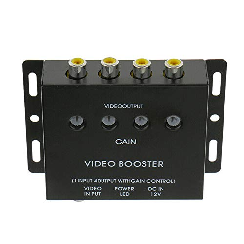 Video Distribution Amplifier, Enhenstre Video Splitter Box 1 Input to 4 Output for DVD Signal,Video Monitor System Used in Bus