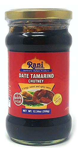 Rani Tamarind Paste Puree (Imli) 16oz (1lb) Glass Jar, No added sugar ~ All Natural | Vegan | Gluten Free | No Colors | NON-GMO | Indian Origin