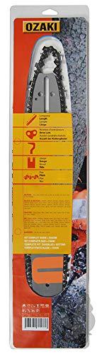Guía de motosierra 45 cm + cadena PAS 3/8-66E de marca Ozaki.