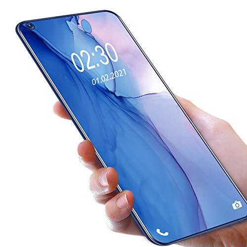 OUKITEL C21 SIMフリースマートフォン Helio P60 Android 10.0 スマホ本体 20MP AI前側カメラ20MP+16MP 4眼カメラ6.4インチ4GB RAM+64GB ROM 4000 mAh携帯電話4GデュアルSIM顔と指紋のロック解除 1年間の保証(青い)