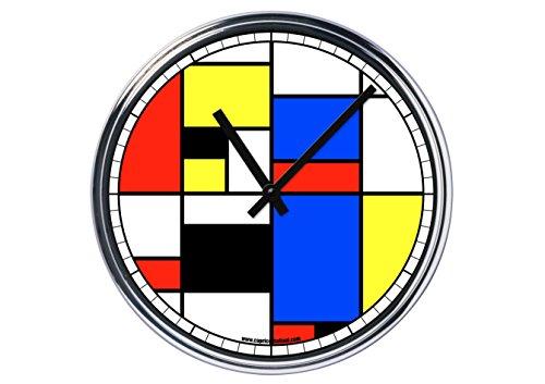 Reloj de Partete de acero Mondrian–Art Puzzle