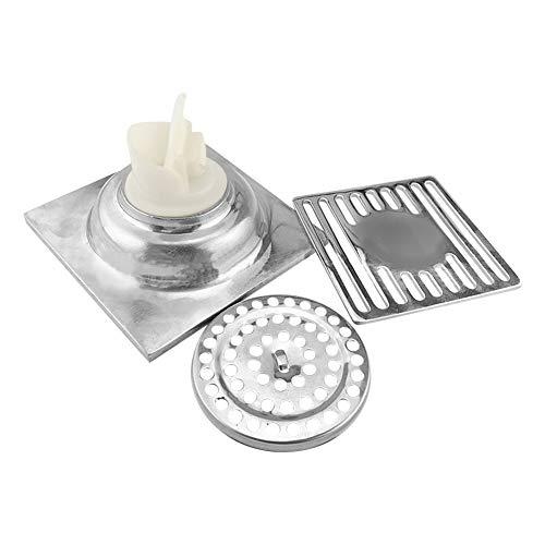 Daytwork Edelstahl Bodenablauf - Fliesen Einsatz Dusche Abfluss mit Entwässerung Schutz Abfall Rost Sieb für Badezimmer Toilette Wäscherei Garten Außen Küche