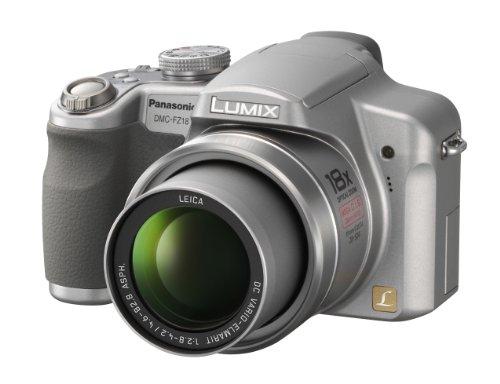 Panasonic Lumix DMC-FZ18S 8.1MP Digital Camera with 18x Wide Angle MEGA Optical Image Stabilized Zoom (Silver)