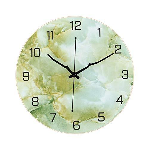 Reloj de pared decorativo moderno silencioso y sin garrapatas de 30,5 cm para sala de estar, hogar, oficina, escuela, dormitorio, funciona con pilas (06)
