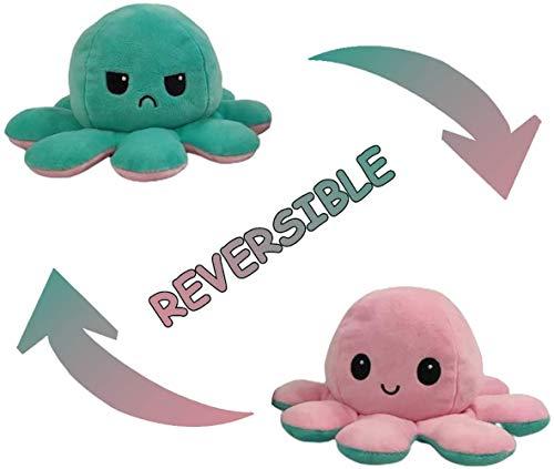 CoRui, wendbare niedliche Mini-Oktopus-Puppe, doppelseitig wendbar, Oktopus-Puppe, Meerestierpuppe, wendbares Design, super weiche Plüschpuppe, Tierspielzeug für Kinder und Erwachsene
