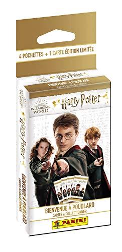 Panini France SA-Harry Potter Saga TC Blíster 4 Fundas + 1 Tarjeta de edición Limitada, 004220KBF4