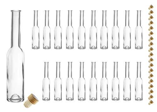 20 leere Glasflaschen Fenice klar 200ml mit Verschluss, Schnapsflasche, Ölflasche, Flasche mit Korken