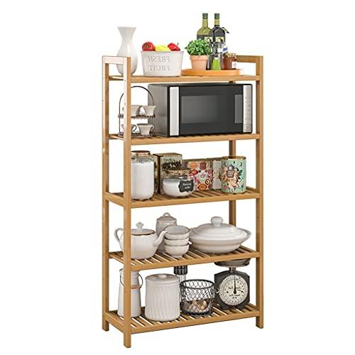 Mueble Microondas Piso de bambú Microondas Horno de microondas, microondas de bambú/ tostadora Horno de tostadora Organizador independiente, Microondas Organizador Estante de Horno para Microondas