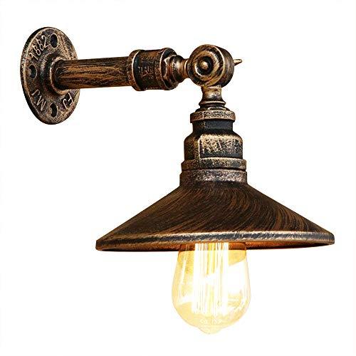RUNNUP Industrielle Vintage Wandlampe Wandleuchte Retrolampe Kupfer E27 Sockel für Wohnzimmer Schlafzimmer Restaurant Café Hotel Diele Keller Untergeschoss Dekoration (Keine Leuchtmittel)