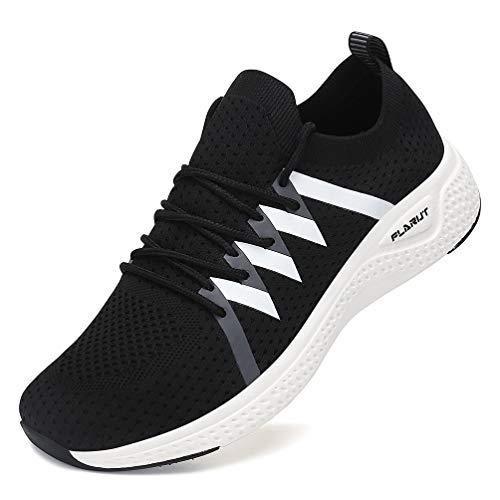 FLARUT Turnschuhe Damen Leichtgewichts Laufschuhe Atmungsaktiv Sportschuhe Straßenlaufschuhe Freizeit Schuhe für Outdoor Fitness Gym Sneaker Schwarz 38