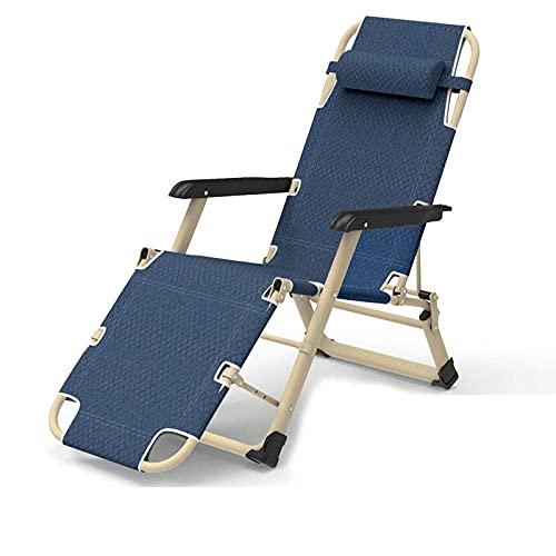 WGFGXQ Sun Lounger Recliner ,Outdoor Folding Zero Gravity Recliner, Adjustable Beach Chairs Sun Lounger Recliner,Maximum Load 200Kg,for Beach Patio Garden Camping