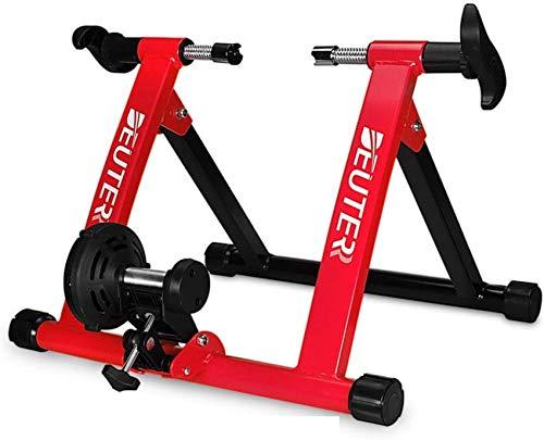 Ancnan Entrenador Turbo magnético para el hogar, Entrenador de Bicicleta Plegable Soporte de Entrenamiento para Bicicletas Estación de Ejercicio de Bicicleta para Ciclismo Entrenador Turbo magnétic