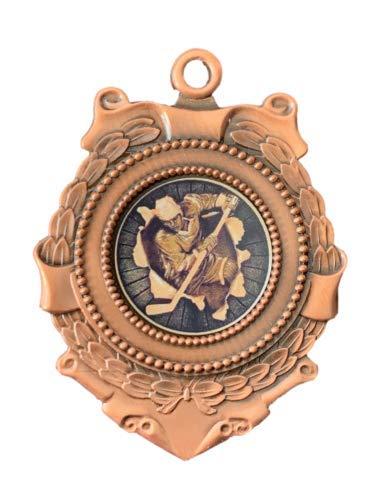 Emblems-Gifts Triumph Eishockey-Medaille, 65 mm, Bronze, in Geschenkbox