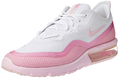 Nike Wmns Airmax Sequent4.5Prm, Zapatillas de Atletismo para Mujer, Multicolor (White/Pink Foam/Psychic Pink 000), 36 EU