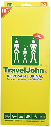 TravelJohn 66892 18Pack Disposable Urinals Deluxe