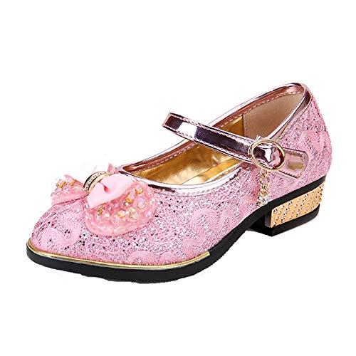 Zapatos de Princesa para niñas Zapatos Ligeros Informales con Lazo de Diamantes...