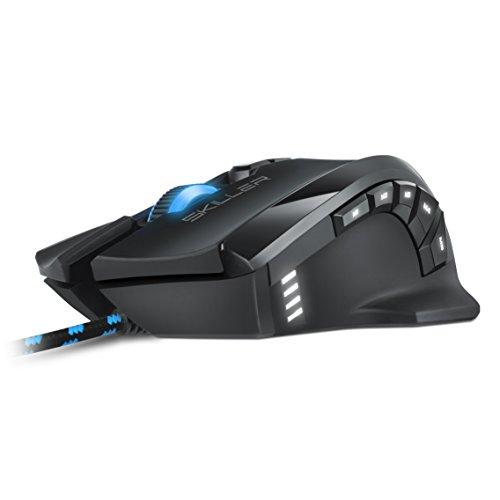 Sharkoon Skiller SGM1 Gaming Maus mit Makrotasten (10800 DPI, RGB-Beleuchtung, 12 Tasten, Weight-Tuning-System und Software) schwarz - 3
