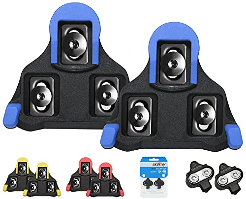 TacoBey Bike Cleats Compatible with Shimano Cleats,Cycling Pedals Cleat for SPD (SH-10 SH-11SH-12) System Shoes - Indoor Outdoor Road Bicycle Cleat Set