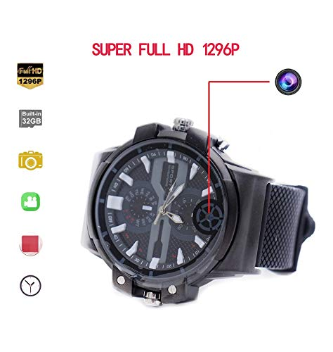 KEQI Super HD motion detection 2K Resolution Camera Wrist Smart Watch Camera 32G Video Photo Audio...