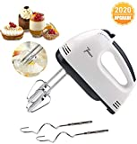 Fundaful Electric Hand Mixer 7-Speed Lightweight Handheld Whisk for Kitchen Baking Cake Mini