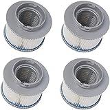 AGVEA Cartucho de filtro/filtro de repuesto para jacuzzi MSpa, cartuchos de filtro para todos los modelos, tubo caliente para MSPA, filtro de repuesto para piscinas hinchables