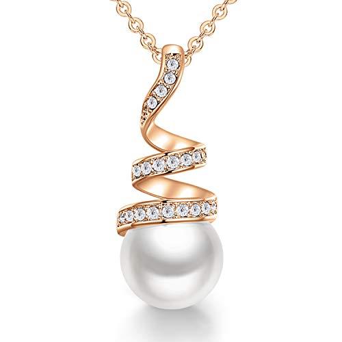 CDE 925 collier de perles en argent sterling pour femmes,...