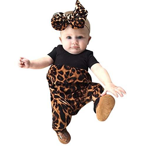 KEERADS KIDS été Printemps Nouveau né Enfants Bébé Filles Tenues Vêtements Body Léopard Romper + Bandeau Ensemble 0 1 2 3 4 5 6 7 9 Ans Les magasins Ont