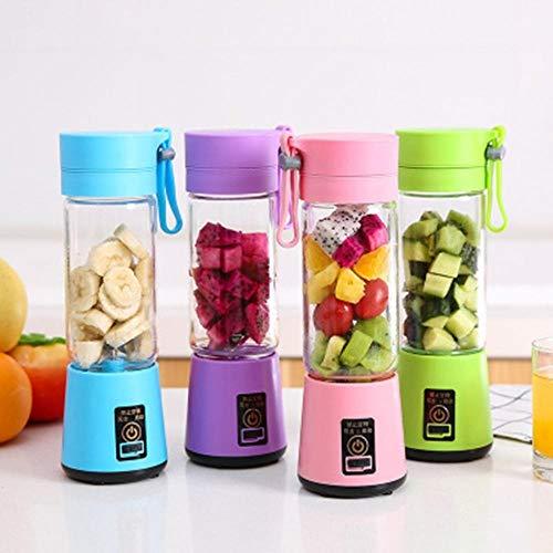 Draagbare grootte USB elektrische fruitpers Handheld Smoothie Blender Oplaadbare Mini Portable Juice Cup Water nieuw, blauw