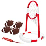 GoSports Splash Pass Pool Football Game - Includes Floating Pool Football Net, 4 Water Footballs and Pump