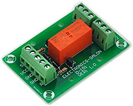 ELECTRONICS-SALON Bistable/Latching DPDT 8 Amp Power Relay Module, DC5V Coil, RT424F05