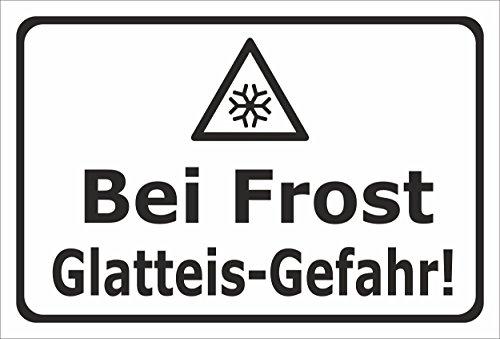 Melis Folienwerkstatt Schild Bei Frost Glatteis-Gefahr - 30x20cm - 3mm Hartschaum – 20 VAR S00018-019-A