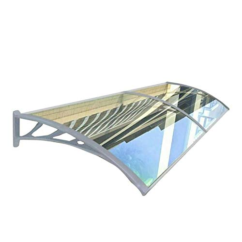 WXQ Patio Porch Awning Shelter Door Canopy Awning Shelter, Uvioresistant, Rain And Snow Protection Lean To Roof Shelter Shade Cover For Front Door Porch (Color : Clear, Size : 80x120cm)