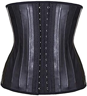 SYMG Body Sculpting Clothes, Rubber Corsets, Smooth 2layer 25steel Bone, Abdomen Bandages, Postpartum Thin Belly, Sports Fitness shapewear women (Color : Black, Size : XS)