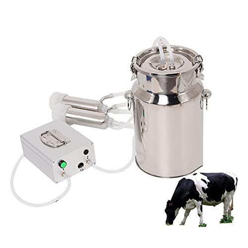 joyvio Ordeñadora eléctrica de 14L para cabras Bomba de vacío de pulsación...