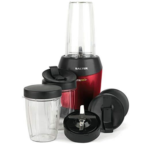 Salter EK2002V2 NutriPro Super Charged Multi-Purpose Nutrient Extractor Blender   1 Litre   1200 W   BPA-Free   Red, Plastic