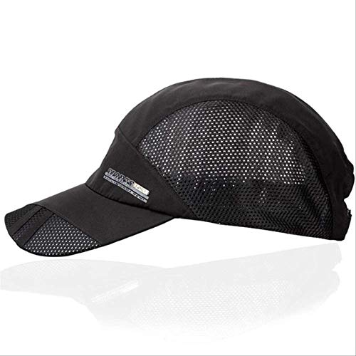 WWIIFashion Herren Sommer Baseball Cap Outdoor Sport Running Visor Hot Popular New Cool Quick Dry Mesh Cap Schwarz