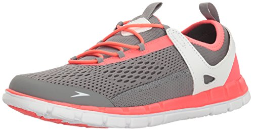 Speedo Women's Water Shoe The Wake Athletic - Manufacturer Discontinued,Hanger Grey/Neon Pink,8.5 Womens US
