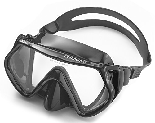 Optimum Diving Mask, Scuba Diving, Free Diving, Snorkeling Mask, Adults, Flexible Silicone, Tempered Glass Lens, The Optimum Mask, For Comfort, Clarity And Durability, Perfect Dives Every Time.