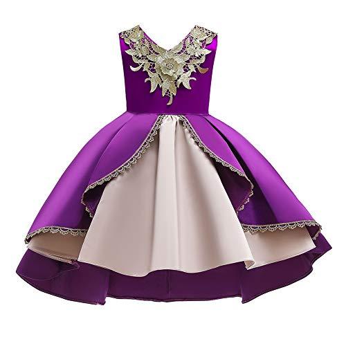 Cichic Robe de fête élégante pour fille - Robe de princesse - Pour mariage, anniversaire, fête - 2-10 ans, lilas, 2-3 ans