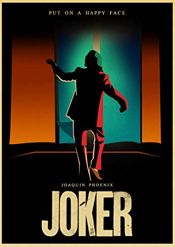 linbindeshoop Joaquin Phoenix Joker DC Movie Comics Wall Art Painting Print On Coffee Retro Poster Pictures Halloween Home Decor (LW-3468) 40x60cm No frame